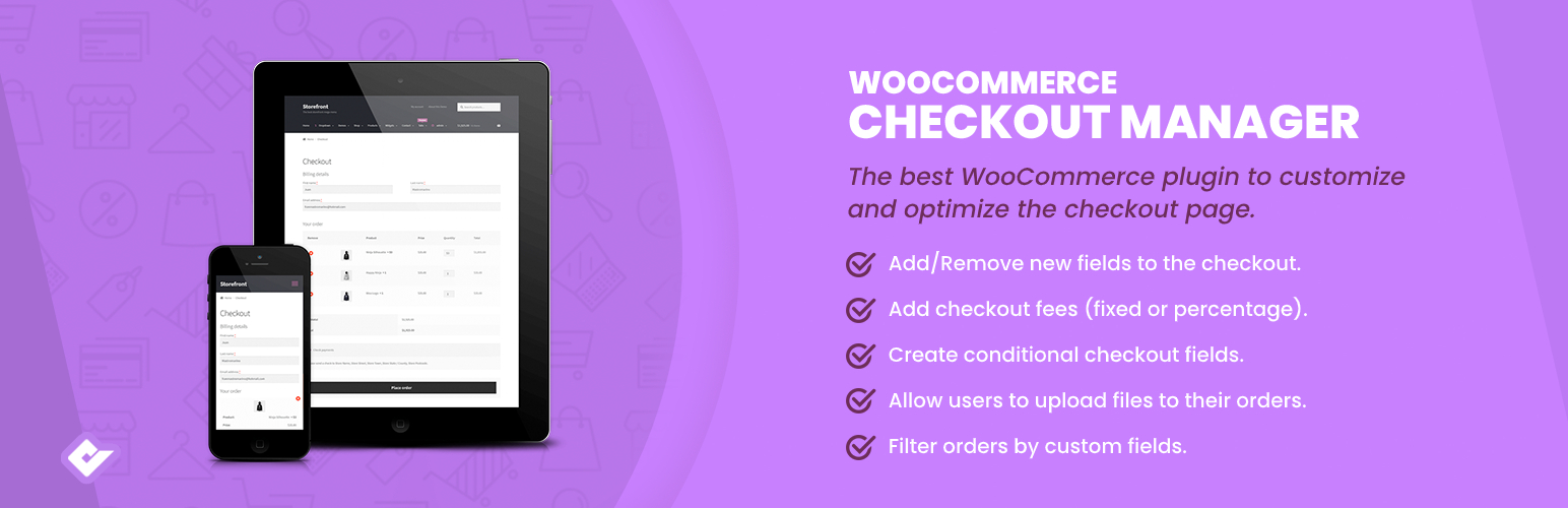 مدیریت صورتحساب در ووکامرس با افزونه Checkout Manager For Woocommerce