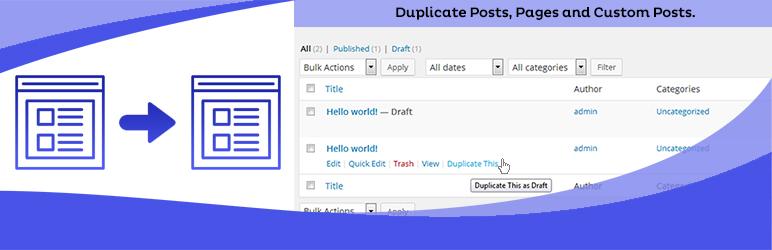 کپی کردن نوشته یا برگه در وردپرس با افزونه Duplicate This