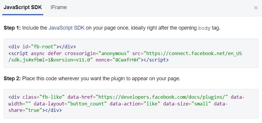 کدهای مرتبط با نمایش دکمه لایک و اشتراکگذاری فیس بوک در وردپرس