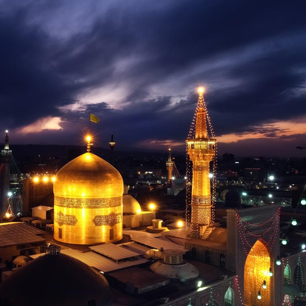 آرامگاه امام رضا (ع) در مشهد - طراحی سایت مذهبی در مشهد