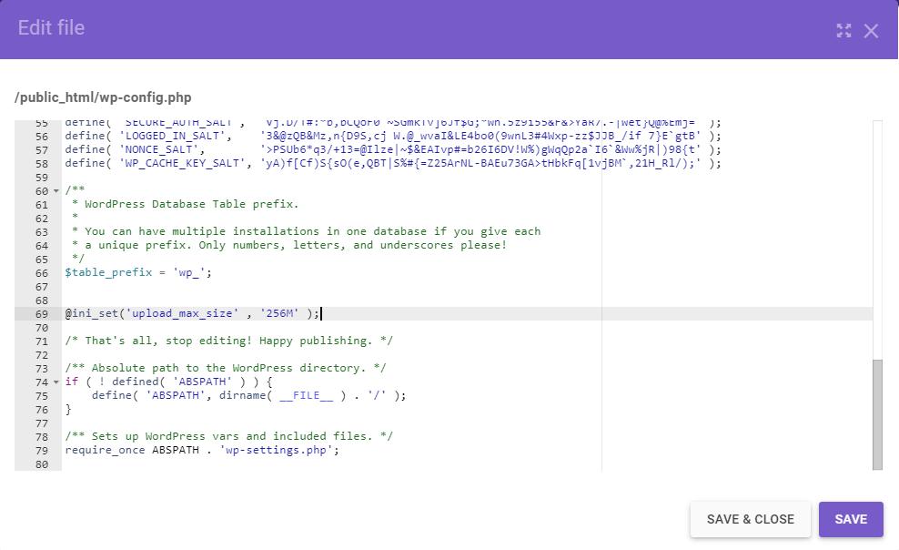 برطرف کردن خطای upload_max_filesize با تغییر در فایل wp-config.php