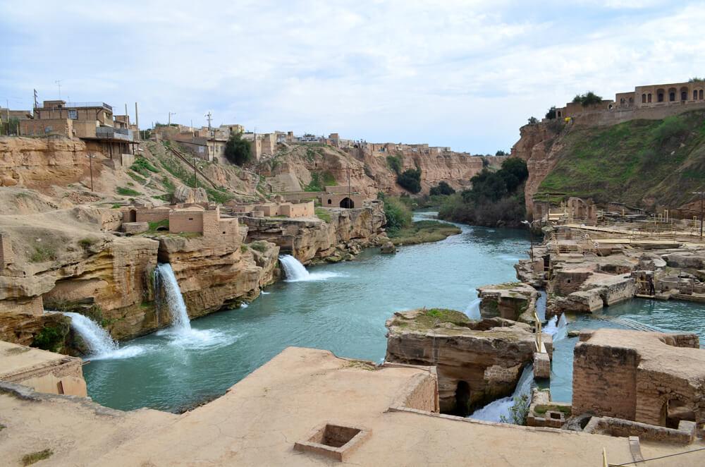 سازههای آبی شوشتر در استان خوزستان