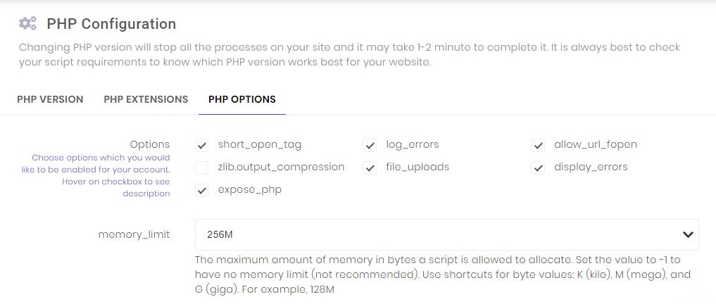 تغییر تنظیمات PHP در هاست