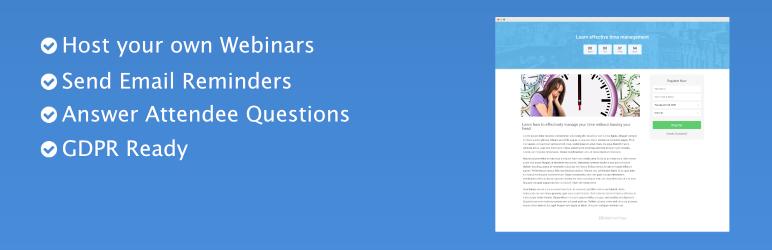 برگزاری رویداد در وردپرس با افزونه WebinarPress