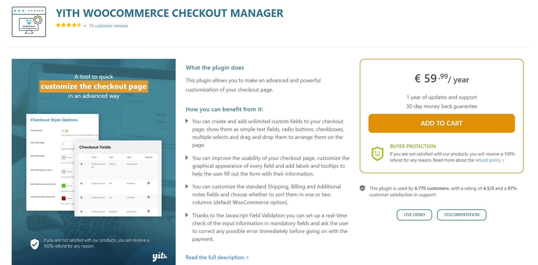 مدیریت فیلدهای صورتحساب در ووکامرس با YITH Woocommerce Checkout Manager